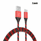 2 Pack 3FT 6FT 10FT Long Micro USB Cable Heavy Duty Charger for Samsung J3 J5 J7