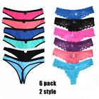 5Pcs Women's Cotton Underwear G-string Thongs Panties T-back Bikini Multi-Color