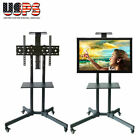 """Heavy Duty TV Mobile Cart Stand Plasma LCD LED Flat Screen w/ Wheels Up to 65"""""""