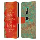 OFFICIAL DUIRWAIGH TYPOGRAPHY 2 LEATHER BOOK WALLET CASE FOR SONY PHONES 1