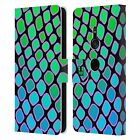 HEAD CASE DESIGNS MAD PRINTS LEATHER BOOK WALLET CASE FOR SONY PHONES 1