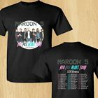 NEW MAROON 5 NORTH AMERICAN TOUR 2018 BLACK T-SHIRT USA SIZE image