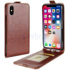 Luxury PU Leather Wallet Card Slots Holder Case Cover For iPhone X 10 Brown GL
