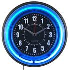 Analog Wall Clock 11 Vibrant Blue or Pink Neon Sterling and Noble