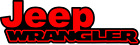 "Jeep Wrangler Decal 2""  x  6""  (two color)"