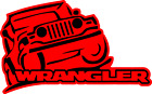 "Jeep Wrangler Decal 3.75""  x  6""  (two color)"