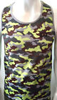 Mens tank tops, time is money yellow camouflage star vest, hip hop gym g urban