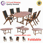 Wooden Oval Side Coffee Table Dining Table Living Room Garden Furniture Clear