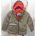 ABERCROMBIE & FITCH WOMENS BLYTHE PARKA JACKET OLIVE SIZE MEDIUM A&F