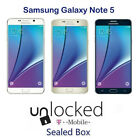 Samsung Galaxy Note 5 SM-N920T 32GB T-Mobile Unlocked 16MP Smartphone - Sealed