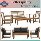Vidaxl Patio Wood Furniture Set Garden Couch Outdoor Sofa Table Bench Chair