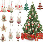 Xmas Ornament Decoration Christmas Tree Hanging Decor Lovely Bell Snowman Elk...
