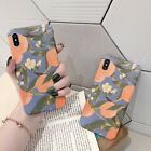 New Hot Orange Leaves Fashion Watercolor Hard Case Cover Skin For Various Phone