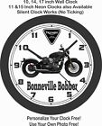2019 TRIUMPH BONNEVILLE BOBBER MOTORCYCLE WALL CLOCK-HONDA, BMW, YAMAHA, APRILIA $54.99 USD on eBay