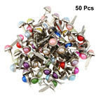 50pcs Mini Brads Pearl Brads Round Brads Pastel Brads for Stamping Crafts Making