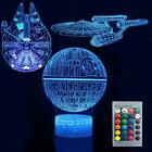 3D Illusion Star Wars Night Lights LED 7 Colors Changing Desk Lamp for Kids Gift $3.28 USD on eBay