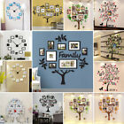 Family Tree Frame Collage Pictures Wall Mount Xmas Decor Photo Frame Wall Clock