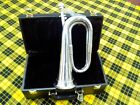 British Army Silver Plated Bb Bugle Mouth Piece Case/Marching Band Bugles/Horns