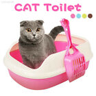 B509 Scoopfree Cat Kitty Litter Box Tray w/ Built-in Sifter High Sides Grey Pink