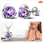 Classic Heart Sterling Silver S925 Jewellery Set Free Gift Bag