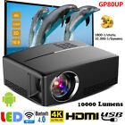 GP80UP 4K Android WiFi Bluetooth Mini 3D LED Projector Home Theater Cinema HDMI