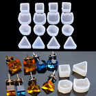 2XWomen Clear Silicone Mold For Making Jewelry Earrings DIY Mold Resin Molds  Kj