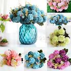 1 Bunch 10 Heads Artificial Hydrangea Silk Flower Wedding Home Room Decoration