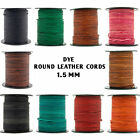 Xsotica  Dye Shades Round Leather Cord 1.5mm
