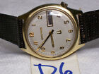 Bulova Accutron 1970 2182 day date  heavy 14kgfb plated  tunning fork watch