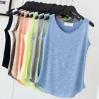 Women Summer Casual Tank Tops Sleeveless Loose Vest Top Blouse Tee Shirt Cotton