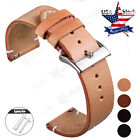 18 20 22mm Genuine Leather  Wrist Watch Band Strap For Huawei Smart Watch Bands image