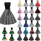 Women's Sommer Sleeveless Retro Evening Party Swing Ball Gown Rockabilly Dress