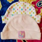 2 Set Lot of Baby Girl Butterfly Winter Hat Beenies