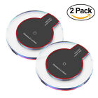 2 Pack Qi Fast Wireless Charger Charging Pad iPhone XS/Max/XR/8/Plus Galaxy