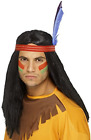 Native American Inspired Brave Wig, Black, Long, Straig (US IMPORT) COST-ACC NEW