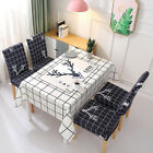 Waterproof Rectangle Jacquard Damask Dinging Table Cloth Cover Chair Cover Sets