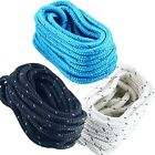 1/2inch 25 FT Reflective Double Braid Nylon Dock Line Boat Mooring Rope 3 Colors