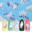 3D Stereoscopic Nail Art Water Decal Transfer Stickers Plants Nail Art Design
