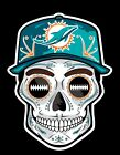MIAMI DOLPHINS Sugar Skull Dia De Los Muertos Vinyl Sticker $3.5 USD on eBay