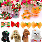 20/100pcs Pet Dog Hair Bows Christmas/Halloween Pet Bowknot Grooming Accessories
