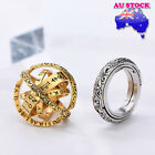 Wholesale Classic Gold/silver Tone Astronomical Sphere Ball Cosmic Finger Ring