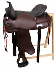 Treeless Western Saddle Omaha, Full Quarter, Brown, New, Rexin