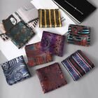 1 Pc Man Paisley Floral Pocket Square Silk Handkerchief For Business Wedding Par