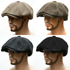 OVERSIZED Wool Tweed Gatsby 8 Panel Newsboy Cap Golf Driving Ivy Hat ~TW8