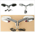 Rearview Size Mirrors LED Turn Signals Fit For Harley VRod VRSCF 2009-2017 16 15 $49.95 USD on eBay