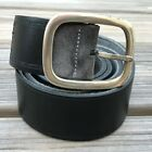 Zegna Sport Men Belt Genuine Leather Waistband Black Made in Italy Size 115 44