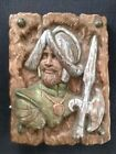 VTG Spanish Conquistador Soldier Knight Ceramic Plaque 3d Painted Wall Hanging