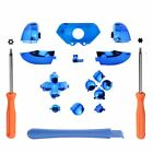 Replace Matte Plastic Chrome Full Button Kit+Screwdriver For Xbox One Controller