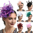 Women's Fascinator Hat Hair Clip Flower Ribbons Feathers Headband Cocktail Party