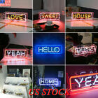 US Fashion Vintage LED Neon Sign Light Box Home Party Decoration Store Display
